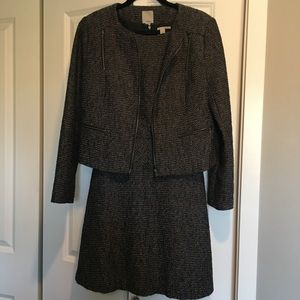 Two piece tweed Halogen dress and jacket